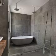 Creëer een betonlook in de badkamer