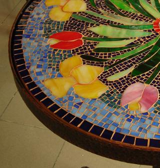 epoxy-giethars-tafelblad-mozaiek