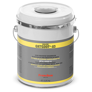 Zinken-dakgoot-coating-gietgoot