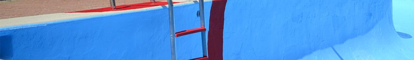 zwembadverf polyester zwembad blauw