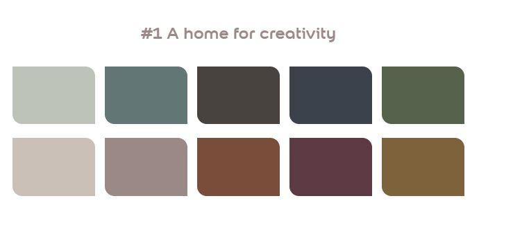 A home for creativity flexa kleurenpallet