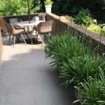 Gietvloer buiten als terras