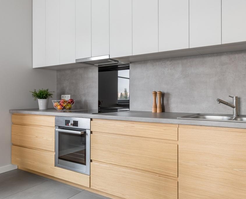 Grijze keuken met betonlook - ton sur ton