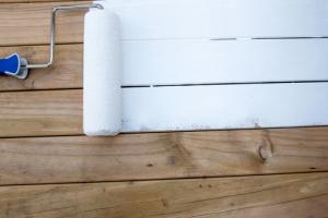 houten vloer wit verven dekkend