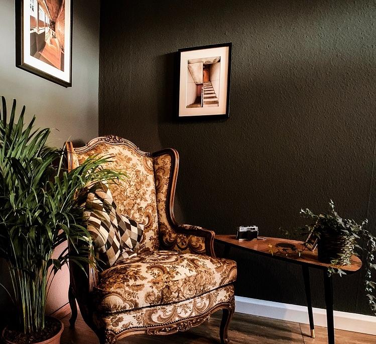 Donkere aardetint muurverf