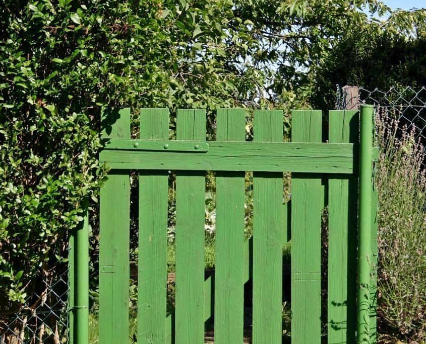 Natuurlijk groen tuinhekje