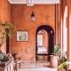 oranje aardetinten muurverf roest